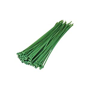 Mister-Solutions Pack Of 100 Green cable Ties (200mm x 4.8mm)