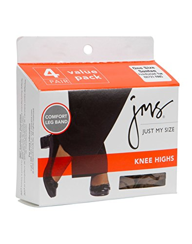 Suntan JMS Reinforced Toe Knee High 4 Pack - One (Pantyhose Sizes)