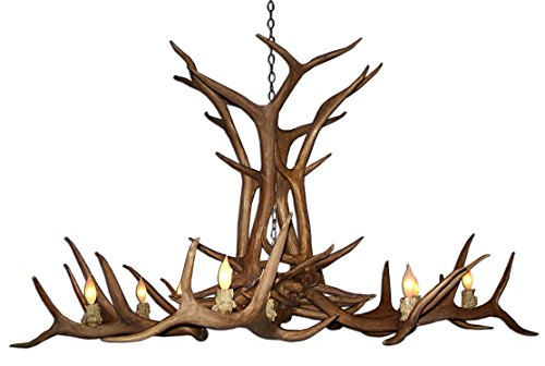 - Real Antler Elk Single Tier Deer Chandelier Light XXLarge