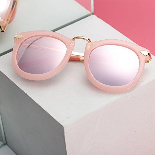de moderno Lentes polarizado sol 21 para gafas UV400 Barbie para de sol retro mujeres mujer chica PC protección Yxz7OXqw