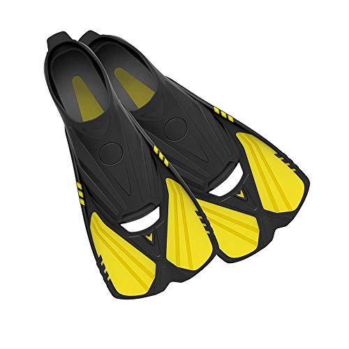 - Deep Blue Gear Aqualine Fins for Snorkeling, Swimming, and Diving (Yellow, Men's 10-11.5, Women's 11-12.5)