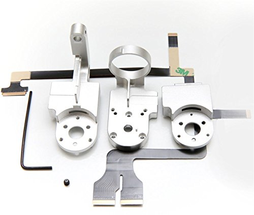 TAOKE Yaw + Roll Arm + cover + Ribbon Cable Kit + Screw Gimbal Repair for DJI Phantom 3 Professional/Advanced/4k (Gimbal Kit)