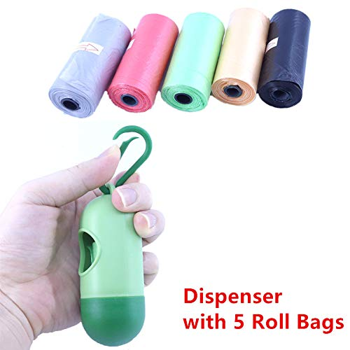 (75 Disposable Diaper Refill Bags with Free Capsules Diaper Bag Dispenser,Unscented,Color May Vary)