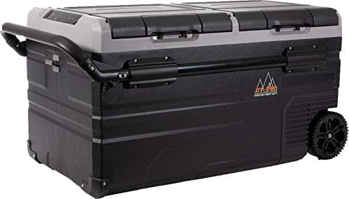 DT PRO Portable Refrigerator & Freezer Wireless Electric Dual Zone APP Control Cooler(-4℉-68℉) LG Compressor, Rechargeable Camper Fridge for Outdoor, Boat, Travel,12V Car/RV 24V/Solar/AC
