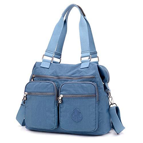 Impermeable Ecole Epaule Sport Sac Main Besace Two De A Cabas Porte Outreo Bag Bandouliere Sacoche Cours Femme Bleu Pour Bourse Voyage pTWn76wg