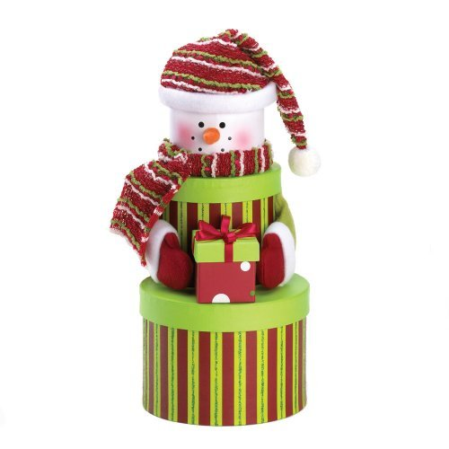 Snowman Tiered Gift Box Christmas Decor (Snowman Make Up)