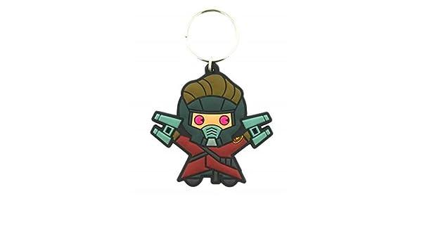 GUIZMAX Llavero Kawaii Star Lord Marvel 6 cm Llavero: Amazon ...