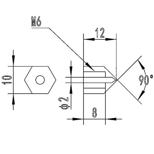 Lat/ón Boquilla M6/Rosca Interior/ /0,4/mm 2/x Up