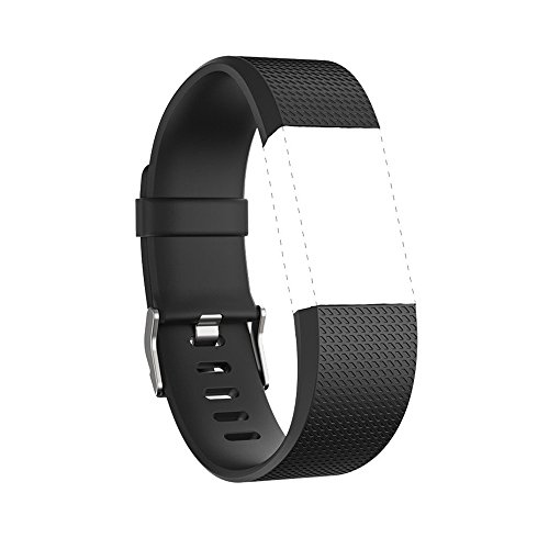 iGK For Fitbit Charge 2 Bands, Adjustable Replacement Bands with Metal Clasp for Fitbit Charge 2 Wristbands Classic Edition Black Large