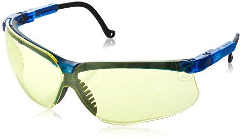 Uvex Lens Amber Genesis (Uvex S3242 Genesis Safety Eyewear, Vapor Blue Frame, Amber Ultra-Dura Hardcoat Lens)