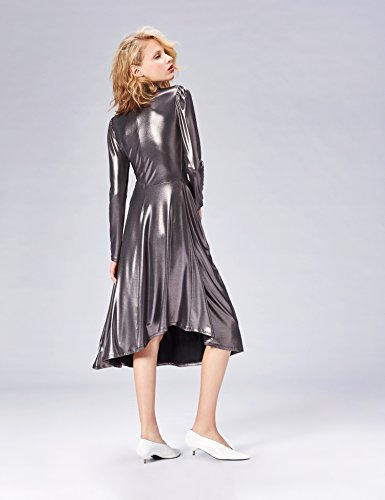 Femme Argent FIND Gunmetal Robe Portefeuille 1Enxa7w4qU