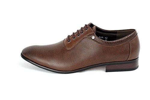 Zapatillas De Hombre Moda Cuero Italiano Buscar Oxford Estilo Tamaño RU 6 7 8 9 10 11 Marrón