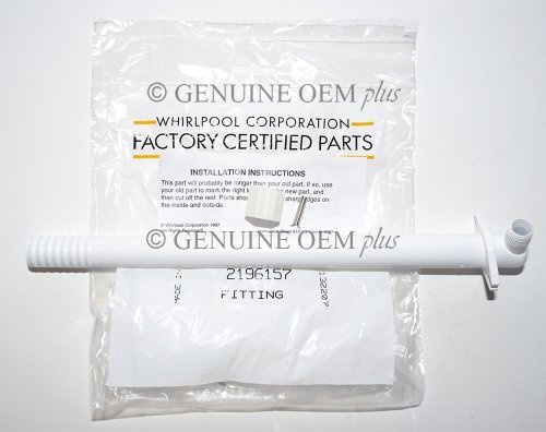 PART # 2196157 GENUINE OEM ORIGINAL REFRIGERATOR ICEMAKER WATER FILL TUBE KIT FOR WHIRLPOOL, KENMORE, ROPER AND MAYTAG, Model: 2196157 OR AP2992967, Home & Tools by Outdoor & Tools - Fill Tube Kit