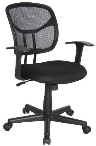 Essentials by OFM Mesh Swivel Task Chair with Arms, - Seating Stain Resistant Ofm