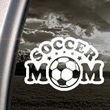 Soccer Mom White Sticker Decal Notebook Car Laptop Art Bumper White Sticker Decal
