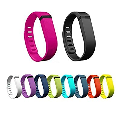 Best_Express Set 10pcs Small S Replacement Bands with Clasps for Fitbit FLEX Only /No tracker/ Wireless Activity Bracelet Sport Wristband Fit Bit Flex Bracelet Sport Arm Band Armband (10color bands)