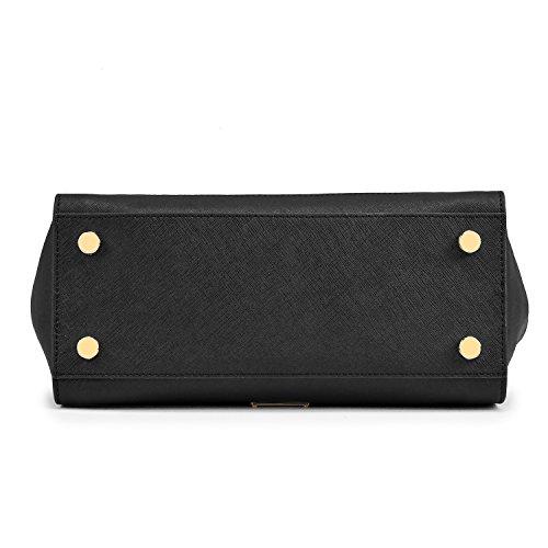Fashion Leather Shoulder Black Single Handbags Bag FYYqwxTU