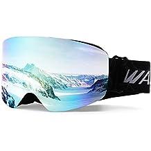 WantdoAnti Fog SkiGoggleCylindricalDesign DualLayersLensUV400Protection SnowSportsGlasses Snowboard Snowmobile SkateOTGHelmetCompatibleforMenWomen Youth Unisex