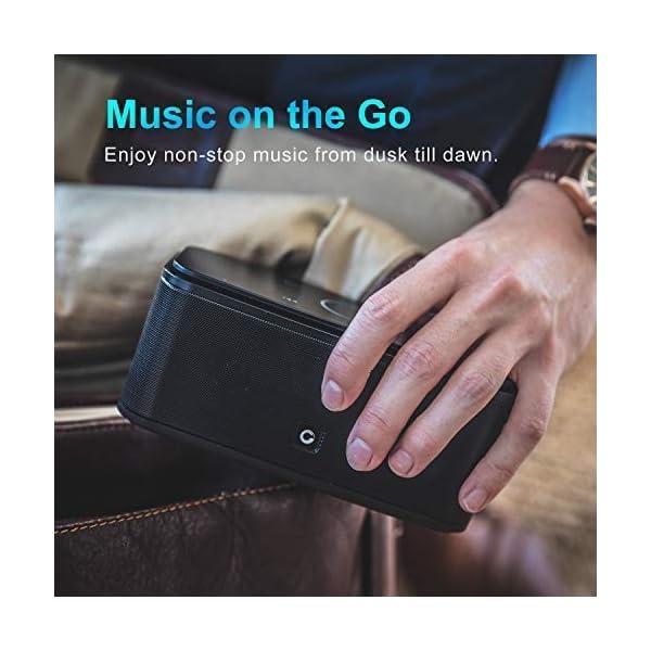 Enceinte Bluetooth 12W, DOSS SoundBox Haut-Parleur Bluetooth sans Fil Portable,Commande Tactile et Définition Stéréo, 12 Heures d'Autonomie en Lecture,Mains Libres Téléphone, Carte TF Support.-Noir 4