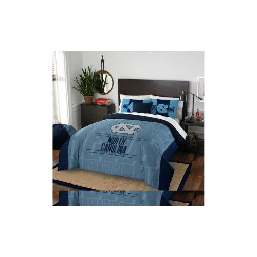 Officially Licensed NCAA North Carolina Tar Heels Modern Take Full/Queen Comforter and 2 Sham Set (Carolina Comforter)