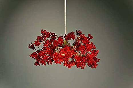 Lamp Shades   Romantic Red Flowers   Pendant Lighting   Light Shade    Ceiling Lights For
