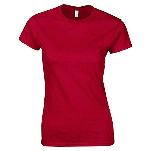 Red Shirt XXL Maglietta SoftStyle ad colori Xl Uk da 25 anello cherry donna T S 16 con misure filato 1Uq8fw
