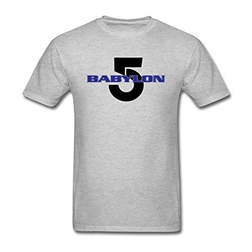 TLMKKI Men's Babylon 5 T-shirt Grey XXXL