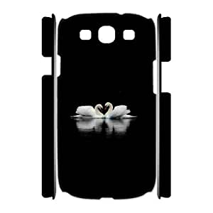 3D Swans Samsung Galaxy S3 Cases for Boys, Samsung Galaxy S3 Cases for Mens [White]
