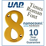 3 Times Roman Door Numeral - Number 8 - PVD Gold (Made from Stainless Steel) - Perfect for the Coast by UAP