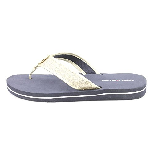 Tommy Hilfiger Carma Womens Size 5 Gold Flip Flops Sandals Shoes