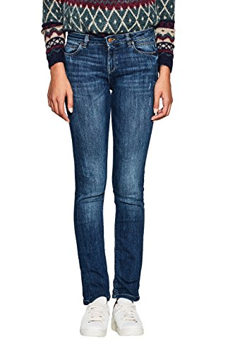 902 Medium Wash Esprit blue Donna Straight Jeans Blu wAx0qvC