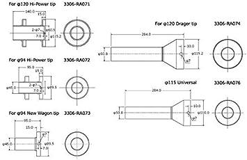 HKS 3306-RA072 Universal Inner Muffler Silencer