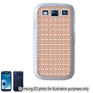 Red Tribal Aztec Mayan Pattern Samsung Galaxy S3 i9300 Case Cover Skin White