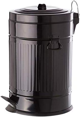 Papelera 20 litros industrial negro de acero de cocina Arabia ...