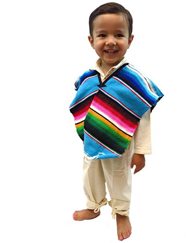 Leos Imports (TM) Mexican Sarape Serape Boy/Girl Poncho (Ages (Mexican Girl Costume)