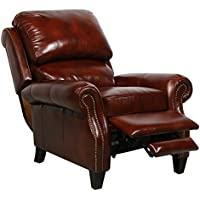 Barcalounger Churchill ll Art Burl Leather Recliner