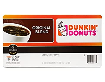 Dunkin Donuts KCup Pods Original 54 Count Amazoncom Grocery