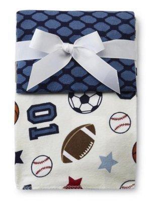 Nojo Sports 3 pack Receiving Blankets Hockey, Football, Soccer, Basketball, Baseball
