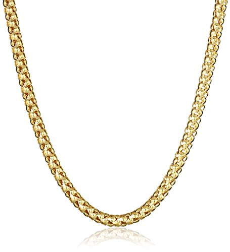 14k Yellow Gold Italian 2.5mm Popcorn Chain Necklace, 20