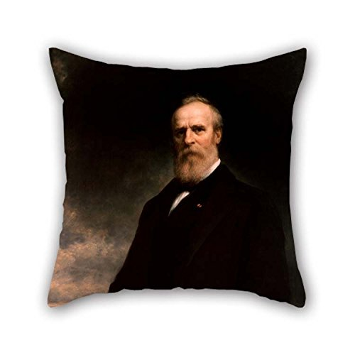 45 cm Oil Painting Daniel Huntington - Rutherford Birchard Hayes Pillowcover Two Sides Ornament Gift to Girls Bar Bedroom Son Dining Room Living Room ()
