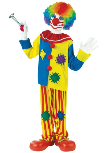 Fun World Big Top Clown Child Costume, Multicolor, Large 12-14