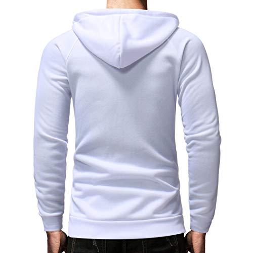 de cierre con capucha para Blanco de cremallera de Sudadera y o hombre Tops cremallera gran invierno con tama Aimee7 Chaqueta Y0gw7qx