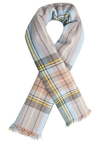 Women's Fall Winter Scarf Tassel Plaid Scarf Warm Soft Chunky Large Blanket Wrap Shawl Scarves
