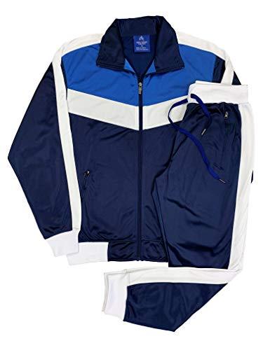 Men's Jogger Tracksuit iClimate Activewear Set (Navy Blue, XL)