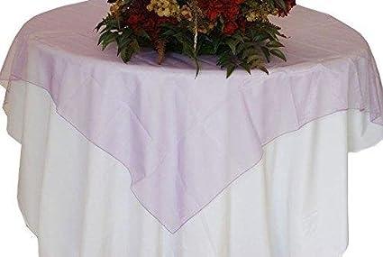 Charmant Organza Table Overlay Linen Table Cloth 80u0026quot; X 80u0026quot; ...