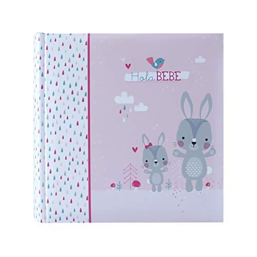Betco Álbum para 200 Fotos de Bebé, color Rosa