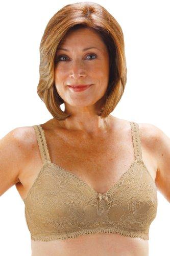 Mastectomy Bra Skin (Scalloped Lace Pocket Bra 779 by Classique 38D Beige/Skin)