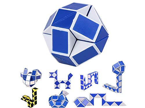 Huasen Funny Twist Toy Snake, 3D Magic Cube Puzzle Ruler Educational Speed Cube for Adults Kids Gift