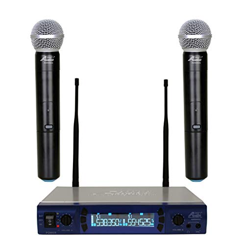 Audio 2000s AWM-6952U UHF Handheld 200 Frequencies Portable Wireless Microphone