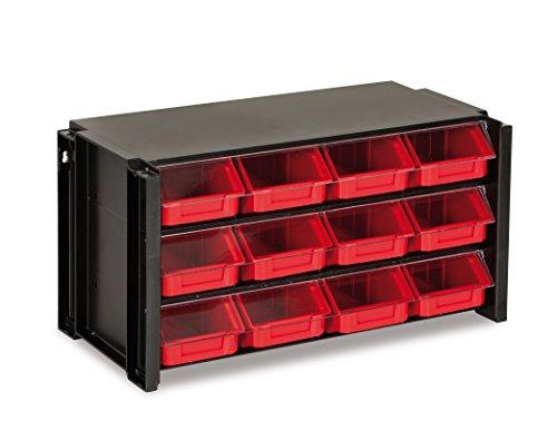 Tayg - Estante con clasificador apilable plástico 12 cajones: Amazon.es: Bricolaje y herramientas